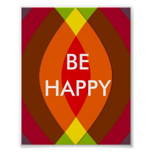 be_happy_two_word_quote_inspirational_print ...