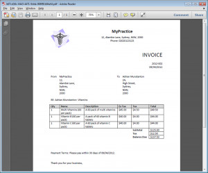 massage therapy receipt template