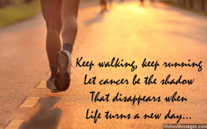 Inspirational messages for cancer patients