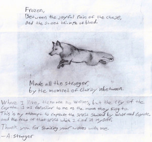 Sad Wolf Poems http://wolvesbystrangers.com/?tag=poem
