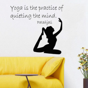 Wall Decals Girl Quote Yoga Is The Practice Of Quieting The Mind ...