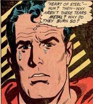 Sad Superman Breakdown Crying In The Classic Comic