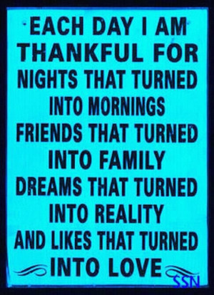 Always thankful.