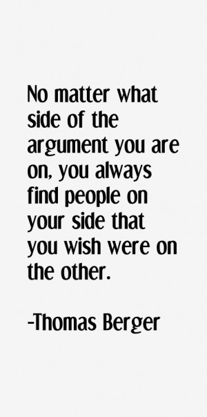 No matter what side of the argument you are on, you always find people ...