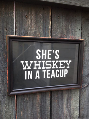 She's Whiskey in a Teacup Framed Wall Art