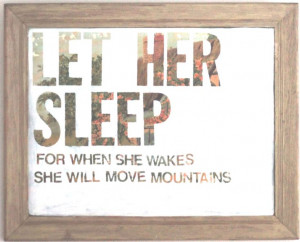 ... wakes she will move mountains quote. Photo Print. $35.00, via Etsy