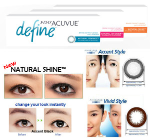 One Day Acuvue Define Contact Lenses