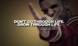 Don't go through life. Grow through life.