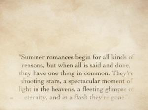 Summer Romance Quotes Tumblr Quote from the notebook