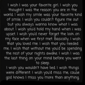 basically, i wish that you loved me...