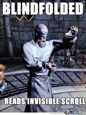 Funny Skyrim Logic Meme