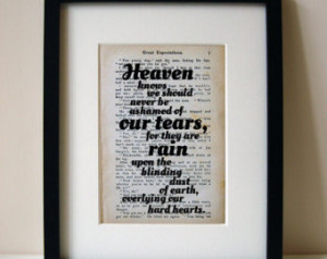Great Expectations - Quote Print - Book Page - Inspirational Quote ...