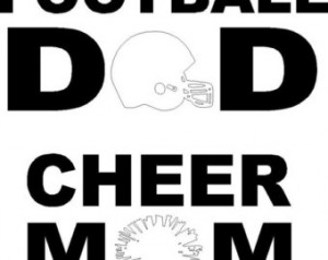 Football Dad OR Cheer Mom decal sti ckers ...