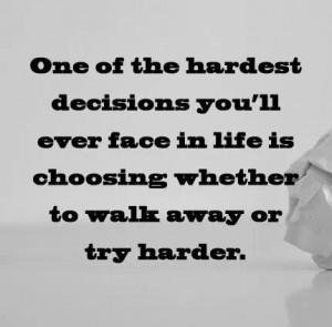 Hard decision...