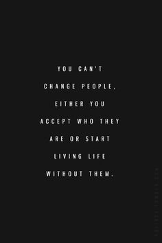 Don't blame other people for your limits and capacities!!!