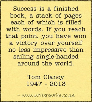 Tom Clancy, dies, age 66. Our Top 10 Tom Clancy Quotes. http://writers ...