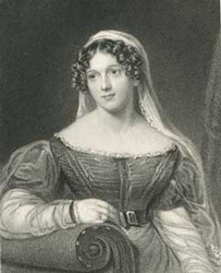 Portrait of Felicia Dorothea Hemans from The Works of Mrs Hemans