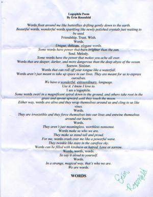 6th Grade I AM Poem