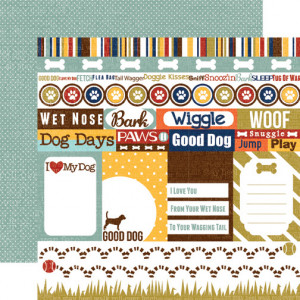 Woof Journaling paper from Echo Park's Woof Collection