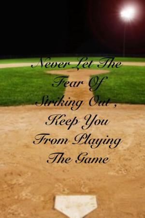 Omg I love this quote!! ~softball stuff~