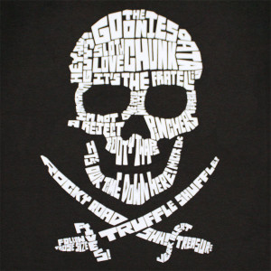 ... Cinema & tv Movies The Goonies The Goonies Skull Quotes Graphic TShirt