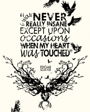 Edgar allan poe quotes on insanity wallpapers