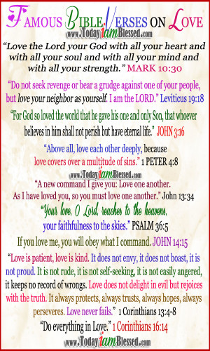 Famous Bible Quotes Famous bible verses on love