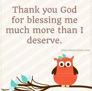 Thankful quote via www.IamPoopsie.com