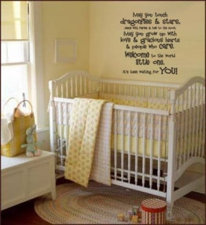 Vinyl Wall Art Decor Art Words Quote Baby Nursery MAY YOU TOUCH ...