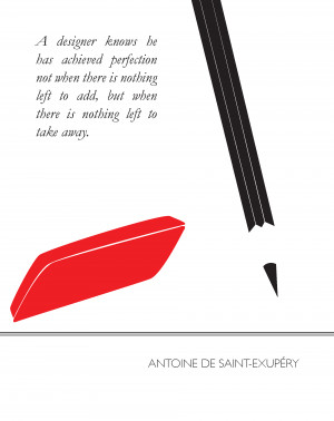 Antoine-de-saint-exupery-design-quote-poster by Drewix