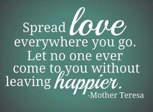 people come and go - spread love quote - BrassyApple.com