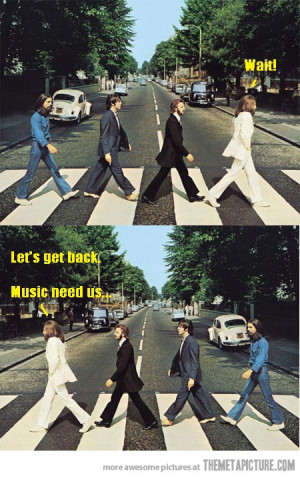 Funny photos funny The Beatles famous street photograph