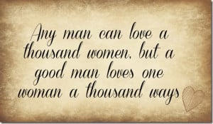 man can love a woman
