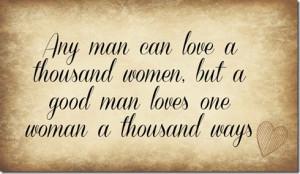man can love a woman