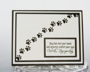 Pet Sympathy Card, Pawprints Loss of Pet Card, Dog Sympathy Card, Cat ...