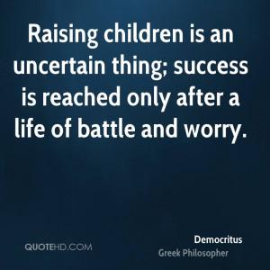 Democritus Success Quotes