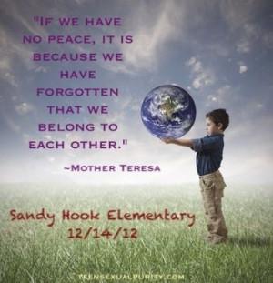 Mother Teresa Sandy Hook Elementary Christian quotes teensexualpurity ...