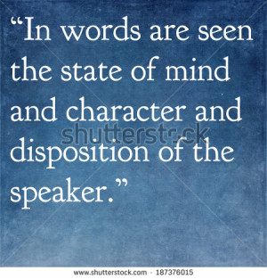 Inspirational quote by ancient Greek philosopher Plutarch - stock ...