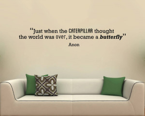 Shop Products Caterpillar Motivational Quote Wall Sticker