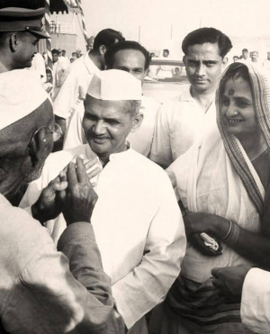 Lal Bahadur Shastri During A Meeting