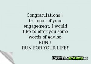 Congratulations!! In honor of yourengagement, I wouldlike to offer you ...