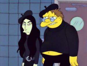 the simpsons simpsons Barney Gumble john and yoko Homer's Barbershop ...