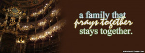 Family That Prays Together Stays Cover