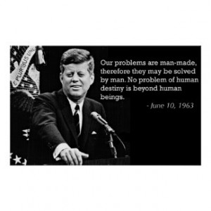 John F Kennedy Quotes Poster