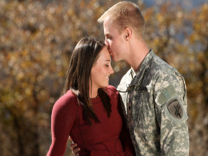So if you have fallen in love with an army man, there are going to ...