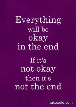 Everything Will Be Okay – Free Printable