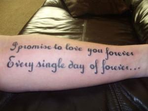 Sentimental Quote Tattoo