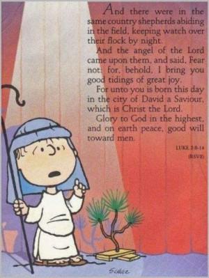 Linus Van Pelt on the Meaning of Christmas