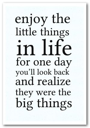 quotes print motivational quote enjoy the little things in life prints ...