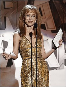 Kathy Griffin onstage during the pre-telecast at the Grammy Awards on ...